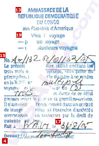 Visa de Democratic Republic of the Congo